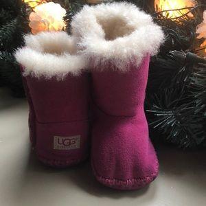 Ugg Infant Girls Caden Pink Suede Size 2/3
