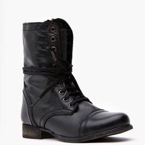 Steve Madden Black Combat Boots