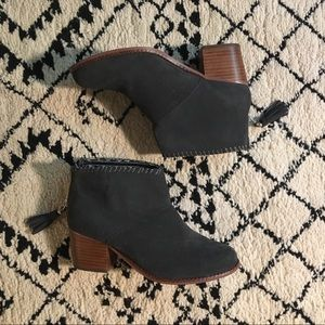 Toms Booties with tassel detail. Size 7