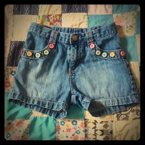 Gymboree Jean Shorts with Colorful Button Trim