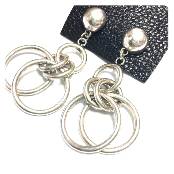 Urban Outfitters Jewelry Silver Looper Earrings Poshmark