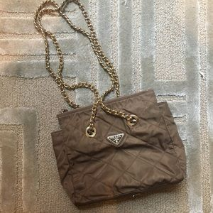 PRADA - quilted classic chain link shoulder bag