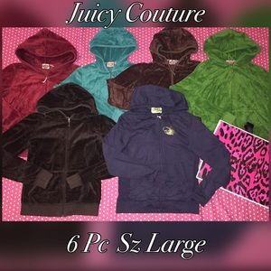 6 Juicy Couture Jackets Bundle LARGE