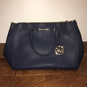 Michael Kors Sutton Leather Bag - Blue- Never Used