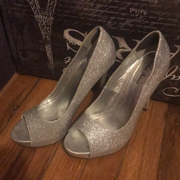 Michael Antonio Shoes - Silver Holiday Heels
