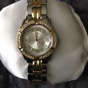 Silver and gold GUESS watch