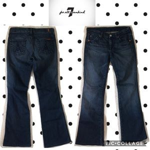 "7 for all mankind ""A"" pocket flare jeans size 26"