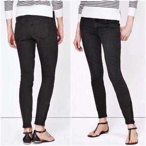 LOFT Skinny Ankle Zip Jeans