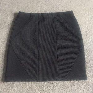 Top Shop Textured Bodycon Mini Skirt