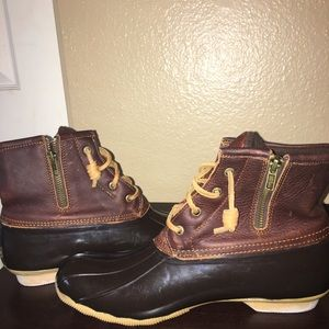 Sperry saltwater leather duck boots