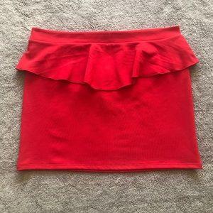 Xhilaration Peplum Skirt Sz XXL Red