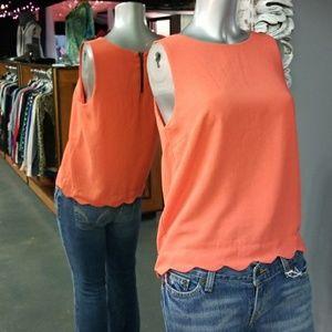 💋3 for $24💋MONTEAU Scallop Dress Tank