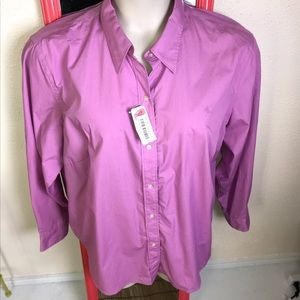 Ralph Lauren button up blouse pink NWT 2X
