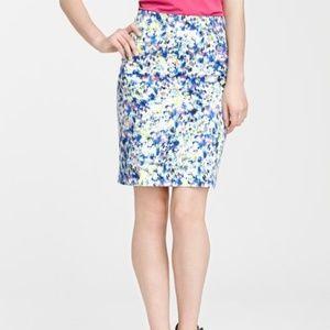 Ann Taylor Art Pencil Skirt