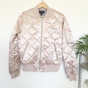 NWT Topshop pink bomber jacket!