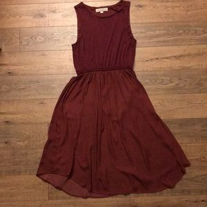 Loft Maroon Flowy dress