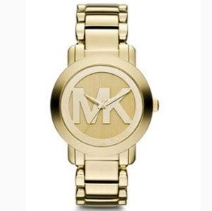 Michael Kors - Large MK Logo Gold Watch
