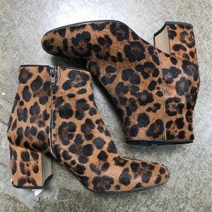 Zara calf hair leopard booties Sz 38