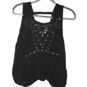 free people flowy top BLACK SMALL
