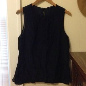 Gap black sheer blouse