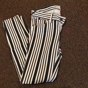 Free People Striped Jeans