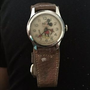 Antique Mickey Mouse wind up watch still works