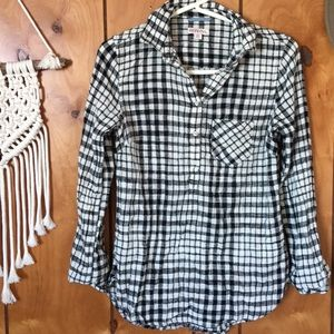 Target Pull Over Plaid Shirt
