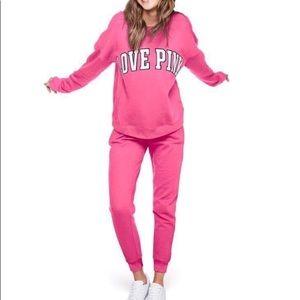 NWT Victoria Secret Pink Large crew Set