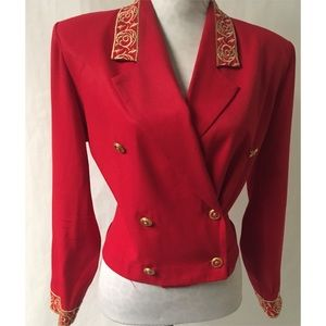 Red & Gold  Vintage Blazer Size 12