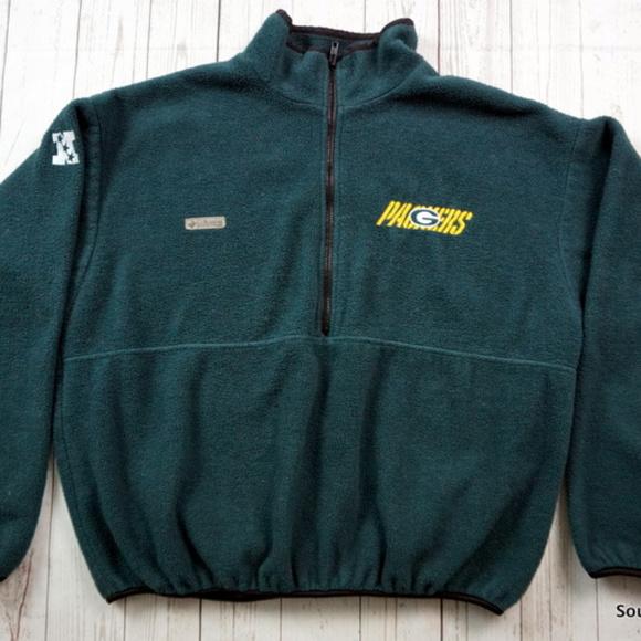 1e271228b79 Columbia Jackets & Coats   Green Bay Packers Fleece Pullover Jacket ...