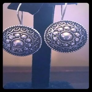 VNTG Sterling Silver Button Earrings