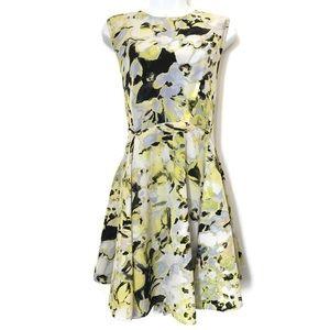Bar III Watercolor Floral A-Line Sleeveless Dress