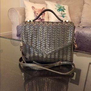 🆕 Deux Lux Faux Woven Leather Handbag