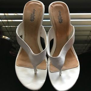 Charlotte Russe White Wedge Sandals