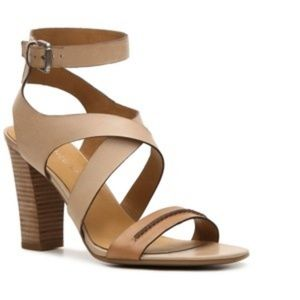 Franco Sarto Nude / Tan Sandal Heels
