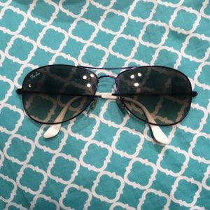 REAL Raybans - purple with red raybans case