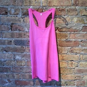 Lululemon pink Run Swiftly tank sz 8 56228