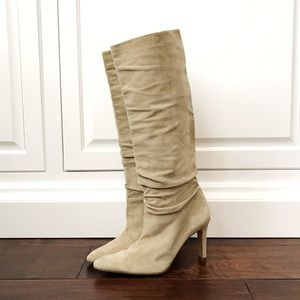 Banana Republic Beige Suede Pointy Toe Boots