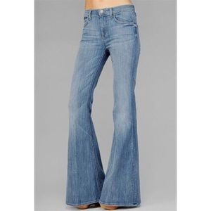 7FAM Bell-bottom Blue Jeans