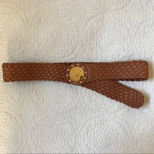 Michael Kors Brown Braided Belt