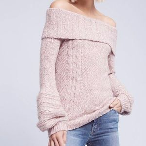 Anthro Neves Off-the-Shoulder Sweater