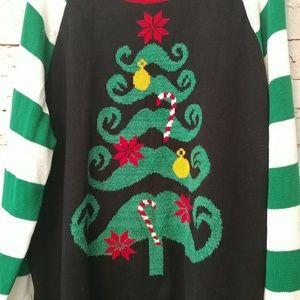 Ugly Christmas Sweater Sweaters Unisex Mustache Tree 3xlt Poshmark