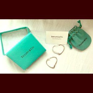 Tiffany&Co. Elsa Peretti Open Heart Hoop Earrings