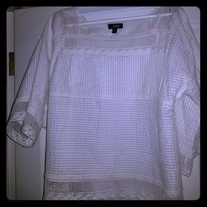 A.N.A size M white lacy blouse. Worn one time