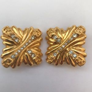 Authentic Fendi Vintage 80's clip on earrings