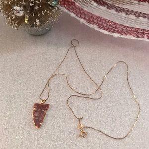 14kt Gold Necklace & Arrowhead Pendant