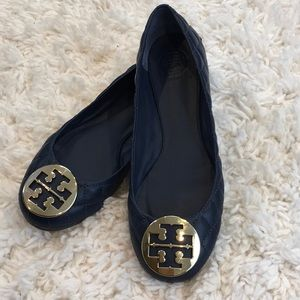 Tory Burch Quilted Reva Leather Flats