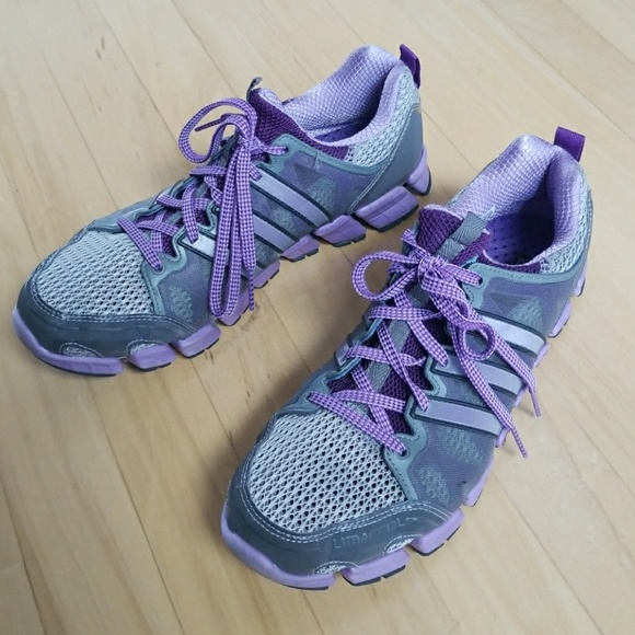 Purple and Gray Climacool Adidas Running Shoes