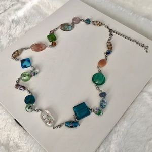 NIB Premier Designs Glass & Ceramic Bead Necklace