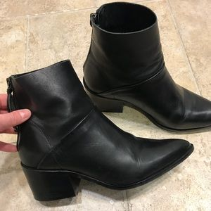 Topshop Pointed Toe Ankle Boots